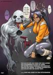 Bleach Tentacle Yoruichi black_hair brown_eyes dark_skin hollow monster tights // 430x604 // 105.4KB