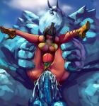 Vaginal belly_bulge monster neith smite tanned_skin ymir // 850x905 // 282.8KB