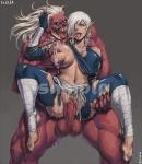 Vaginal breast_exposed breast_grab dark_skin monster monster_rape torn_clothes willing // 780x900 // 999.4KB