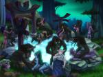Night_Elf orgy werewolf worgen // 2560x1920 // 2.8MB