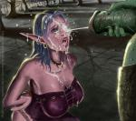 Elf_Girl World_of_Warcraft arms_chained cum_all_over_face cumshot orc // 969x864 // 495.8KB