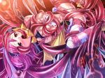 breast_wrap foreplay lusterize mahou_shoujo oral pink_hair purple_hair stockings suspended tentacle_rape vaginal_penetration // 800x600 // 107.5KB