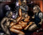 Star_Wars Vaginal aliens dirt_covered double_penetration gangbang legs_apart legs_up oral padme star_wars_female tanned_skin willing // 981x802 // 269.7KB