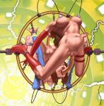 arms_chained breasts_latch electrocution legs_chained machine_bondage naked oral_penetration super_heroines vaginal_penetration // 1000x1015 // 1.0MB