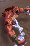 Draenei Gruul_the_Dragonkiller Warcraft World_of_Warcraft artist_Mimic huge_dick penetration rape suspension // 668x1024 // 373.0KB