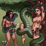 Adam_and_Eve snake snakes // 1500x1500 // 2.5MB