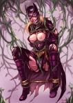 bat_girl breasts_exposed mouth_gagged plants tied_up torn_costume vines // 600x849 // 488.5KB