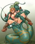 Angry Armor anal breast_lick brown_hair brunette defiant lapgirl large_breasts lipstick lost_the_fight monster naga rape resisting restrained spread_legs warrior_woman // 1099x1361 // 436.0KB