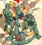 Ragnarok_Online arms_behind_back blood captured catgirl cum defeated double_penetration inept_savior monster multiple orc orgy ragnarok rape tongue // 955x1018 // 152.6KB