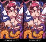 Tentacle bow censored comparison happy heart inju_otoko panties_aside redhead spread_legs stockings uncensored white_panties willing // 980x898 // 565.4KB