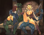 2_girls Cowgirl Ragnarok_Onlinecowgirl anal_fingering artist_Urakanda bondage lapgirl monster multiple orc penetration ragnarok rape rape_monster reverse_cowgirl spread_legs urakanda willing // 988x800 // 142.6KB