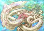 Tentacle anal blonde_hair green_hair legs_held_open male monster_girl naglfar_sakura nude penis_milking purple_Eyes rape size_difference tentacles_on_male testicles wet // 1500x1071 // 511.3KB