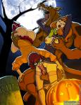 Scooby-doo Velma_Dinkley daphne_blake dog monster // 921x1200 // 948.6KB