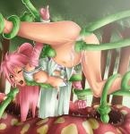 carnivorous_plants forest pink_hair plants suspended tentacle_rape torn_clothes // 970x1000 // 547.2KB