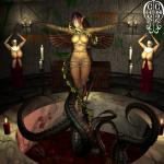 Elf_Girl anticipation arms_chained naked nuns sacrifice tentacle_pit tentacles // 1280x1280 // 303.8KB