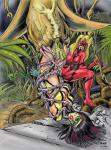in_peril plant_monster super_heroine tentacles villainess vore // 634x851 // 168.0KB