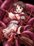 Princess Tentacle arm_grab arms_behind_back blush brown_eyes brown_hair censored imminent_oral lactation large_insertion leg_grab milk milking nipple_latch open_mouth rape spread_legs spread_pussy tears thighhighs tiara torn_clothes // 800x1067 // 696.2KB