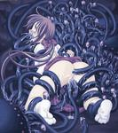 Tentacle anal anal_creampie bow brown_hair censored creampie horror kneeling multiple_vaginal oral oral_creampie rape restrained schoolgirl skirt socks tears triple_penetration // 709x800 // 106.7KB