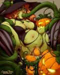 Halloween bulge oviposition pumpkin tentacles // 720x900 // 543.2KB