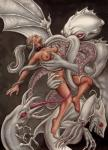 Cthulhu breasts_fondled implied_vore licking monster naked squid tentacle_rape // 600x828 // 227.2KB