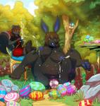 Easter belly_bulge chocolate egg egg_laying furry // 850x895 // 323.6KB