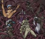 6_girls Tentacle anal anus armpits arms_behind_back arms_up ass bellybutton bent_over black_hair blonde_hair blue_hair blush captured cute demon double_penetration elf feet kneeling leg_lifted legs_spread legs_up multiple naked naked_girls open_mouth oral orgy pointed_ears rape suspension tongue_out triple_penetration uncensored white_hair willing // 1000x864 // 139.2KB