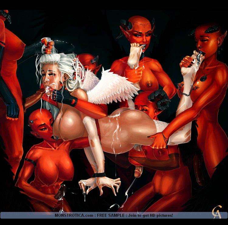 порно ангелы и демоны фото