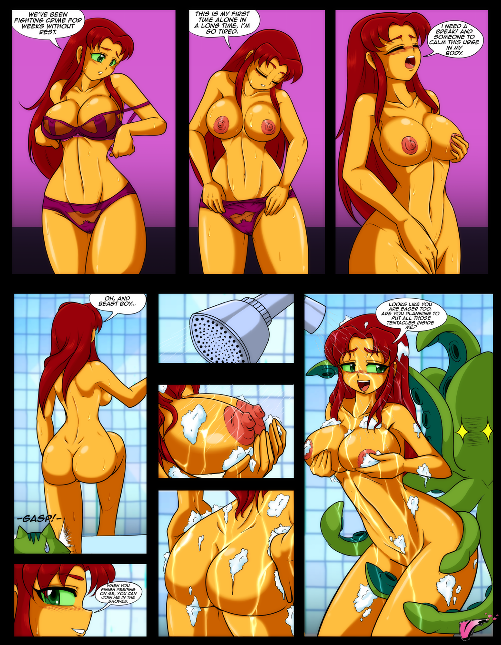 starfire-nude-in-bed