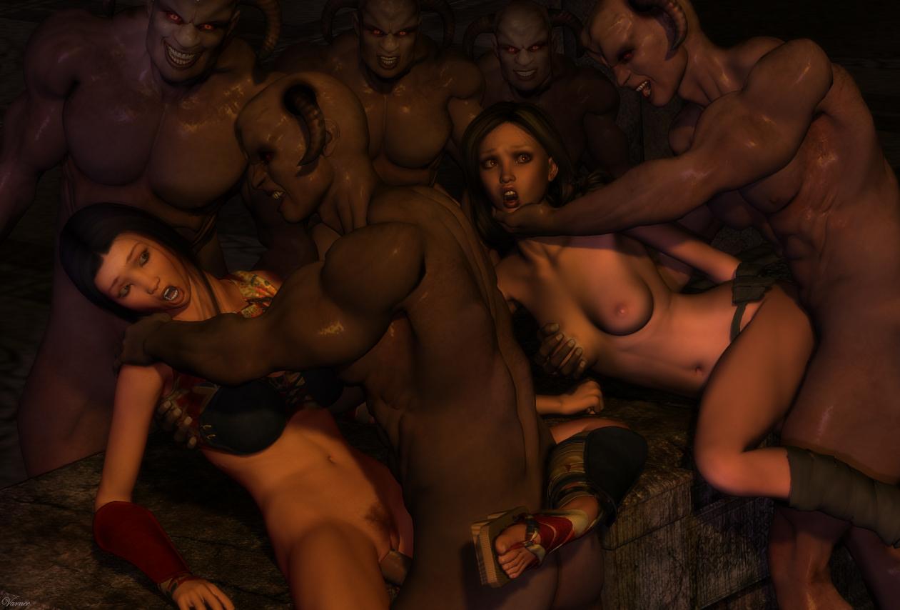 3D Monster Gangbang image 15212: gangbang monster rape