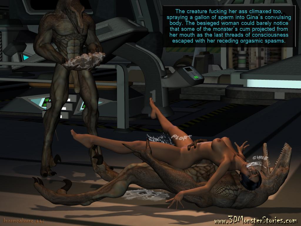 3D Monster Gangbang image 28605: cgi anal gangbang monster nude rape